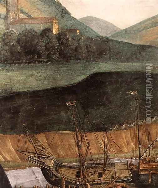 The Punishment of Korah and the Stoning of Moses and Aaron (detail 6) 1481-82 Oil Painting - Sandro Botticelli