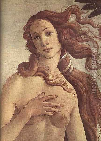 The birth of Venus [detail] Oil Painting - Sandro Botticelli