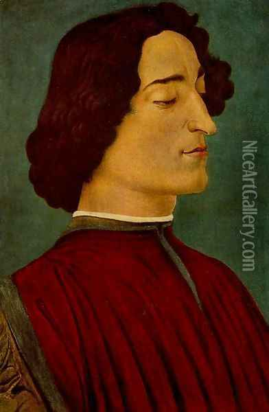 Giuliano de' Medici Oil Painting - Sandro Botticelli