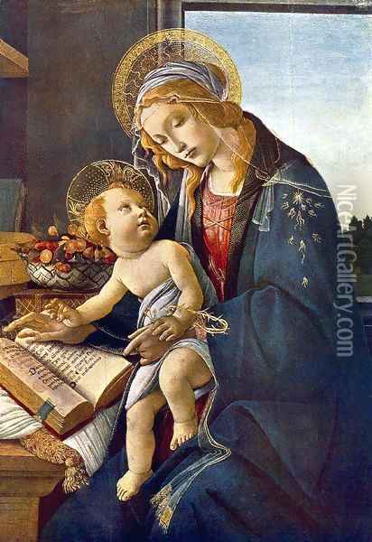 Madonna with the Child Oil Painting - Sandro Botticelli