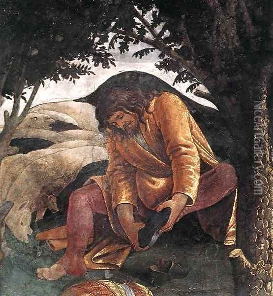 Scenes from the Life of Moses [detail: 3] Oil Painting - Sandro Botticelli