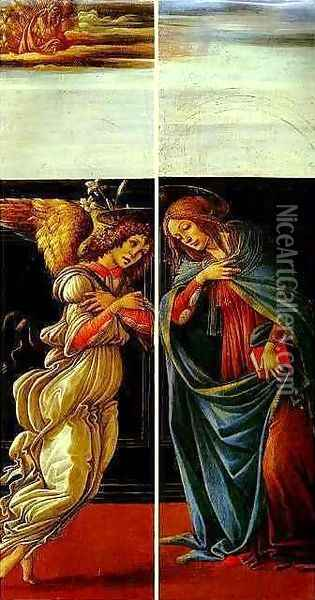 The Annunciation Oil Painting - Sandro Botticelli