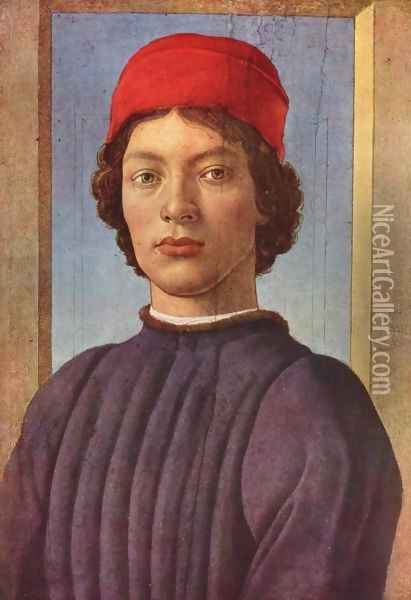 Portrait of a philosopher with red cap Oil Painting - Sandro Botticelli