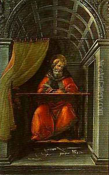 St Angustine in His Study Oil Painting - Sandro Botticelli