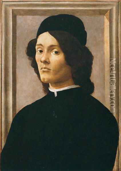 Portrait of a Youth Oil Painting - Sandro Botticelli