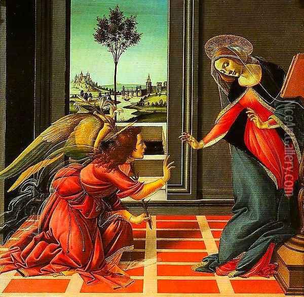 The Annuciation Oil Painting - Sandro Botticelli