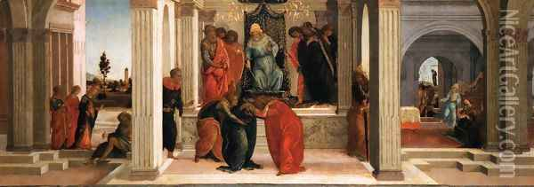 Three Scenes from the Story of Esther Oil Painting - Sandro Botticelli