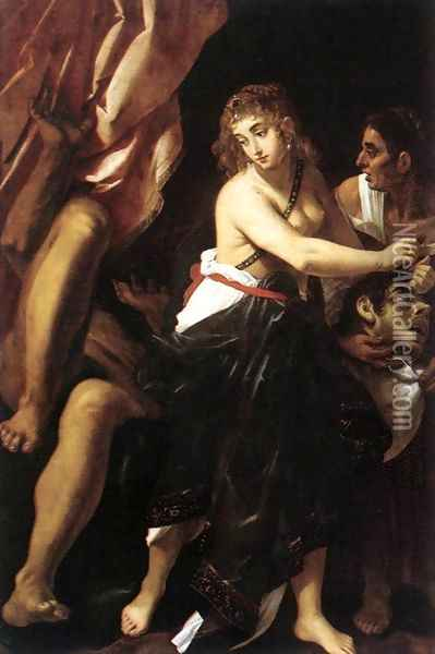 Judith and the Head of Holofernes 1608 Oil Painting - Giovanni Baglione
