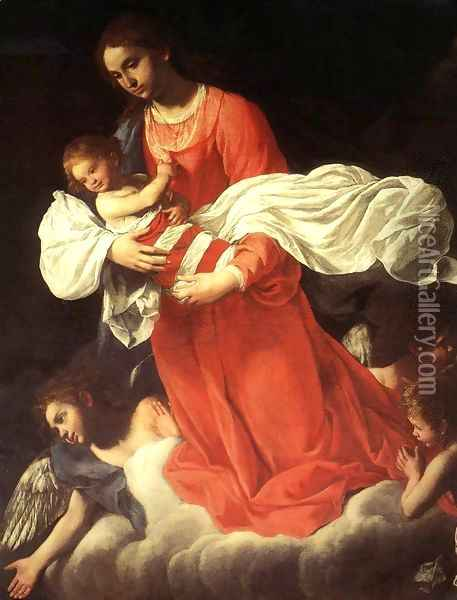 The Virgin and the Child with Angels Oil Painting - Giovanni Baglione
