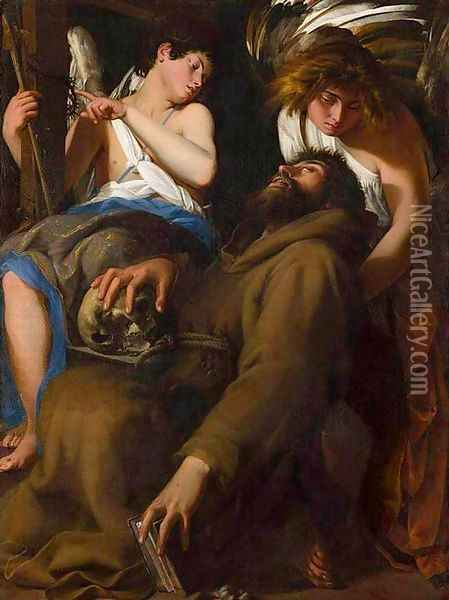 The Ecstasy of St Francis Oil Painting - Giovanni Baglione