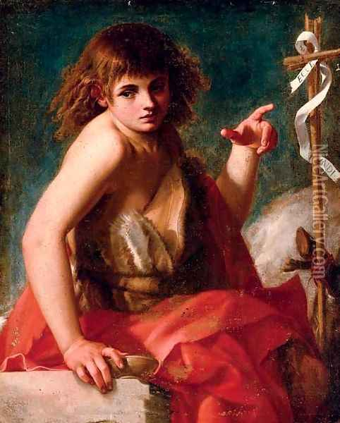 Saint John the Baptist Oil Painting - Giovanni Baglione