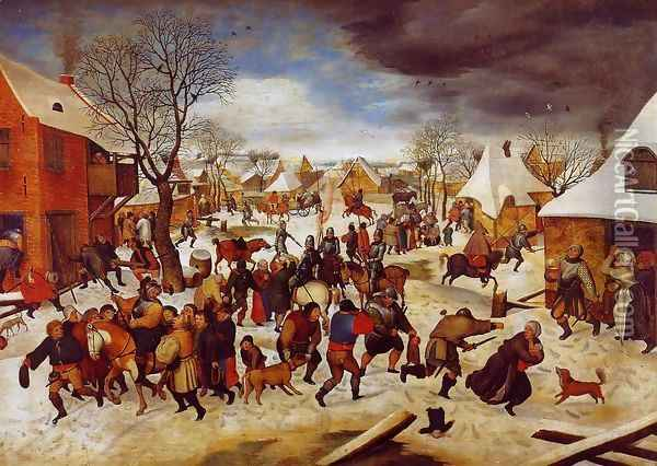 The Massacre of the Innocents Oil Painting - Pieter the Elder Bruegel