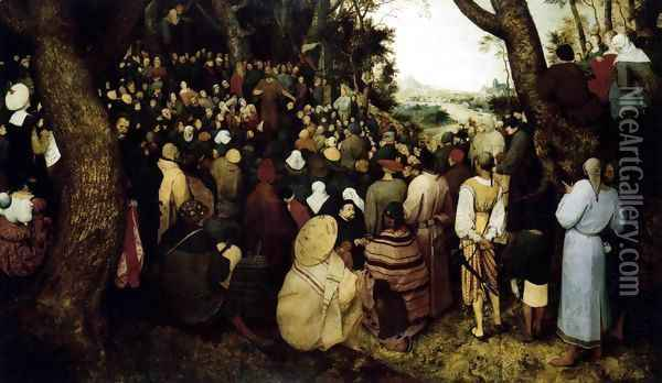 The Sermon of St John the Baptist 1566 Oil Painting - Pieter the Elder Bruegel