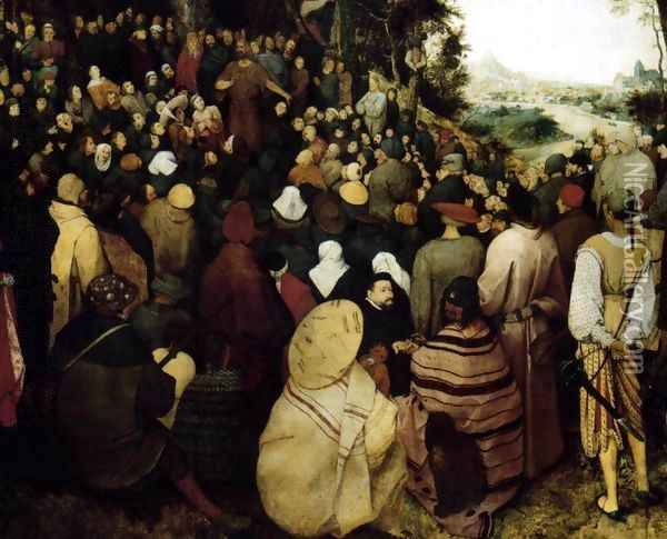 The Sermon of St John the Baptist (detail 1) 1566 Oil Painting - Pieter the Elder Bruegel