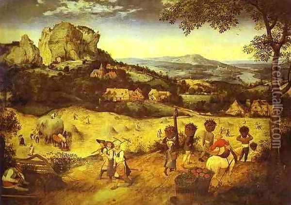 Haymaking Oil Painting - Pieter the Elder Bruegel