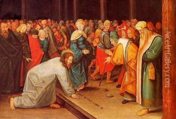 Christ and the Adulteress Oil Painting - Pieter the Elder Bruegel