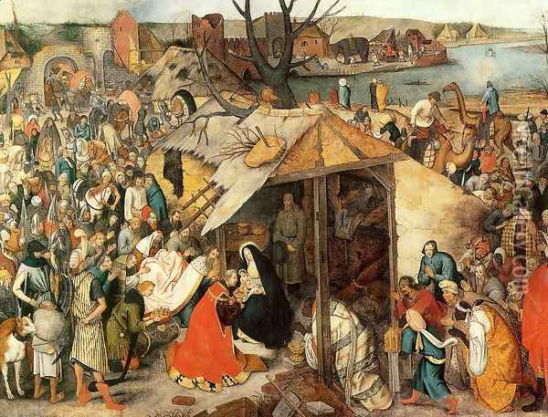 The Adoration of the Magi Oil Painting - Pieter the Elder Bruegel