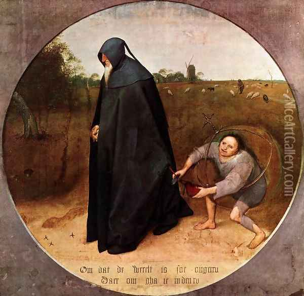 The Misanthrope Oil Painting - Pieter the Elder Bruegel