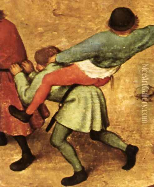Children's Games (detail) 6 Oil Painting - Pieter the Elder Bruegel