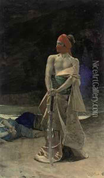 The Masked Assassin Oil Painting - Jehan Georges Vibert