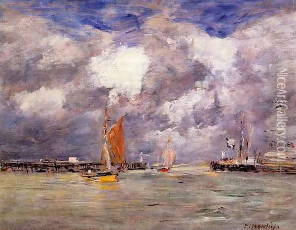 Bortreux, the Port Oil Painting - Eugene Boudin