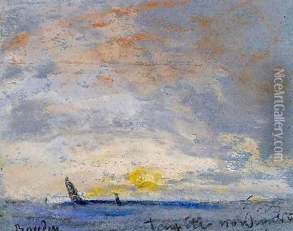 Le Treport Oil Painting - Eugene Boudin