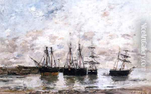 Portrieux 1869 Oil Painting - Eugene Boudin