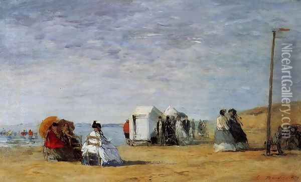 Beach Scene I Oil Painting - Eugene Boudin