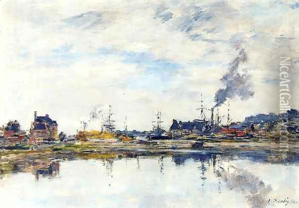 La retenue a Trouville I Oil Painting - Eugene Boudin
