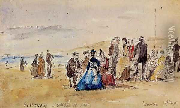 Trouville Oil Painting - Eugene Boudin