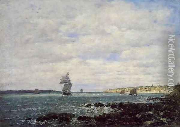 Coast of Brittany Oil Painting - Eugene Boudin