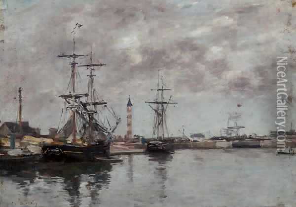 The Port of Deauville II Oil Painting - Eugene Boudin