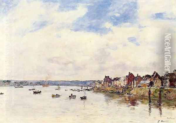 The Seine at Quillebeuf Oil Painting - Eugene Boudin