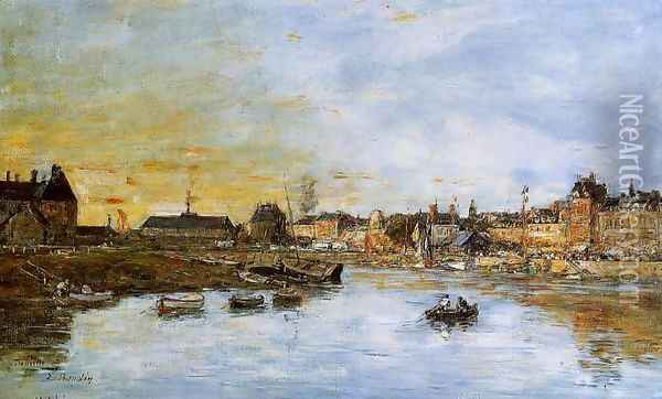 Trouville, the Port I Oil Painting - Eugene Boudin