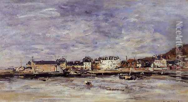 Trouville, the Port II Oil Painting - Eugene Boudin