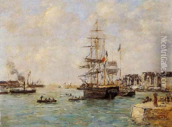 Le Havre, the Outer Port I Oil Painting - Eugene Boudin