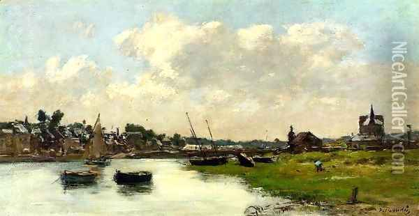 The Port of Trouville, High Tide 2 Oil Painting - Eugene Boudin