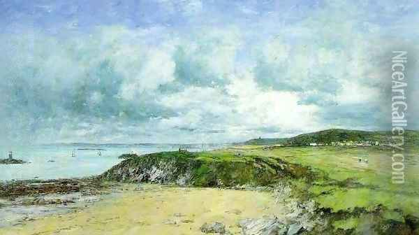 The Coast of Portrieux Oil Painting - Eugene Boudin