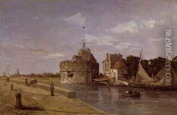 The Francois I Tower at Le Havre Oil Painting - Eugene Boudin