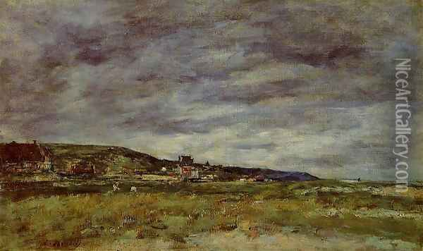 Deauville, the Dunes Oil Painting - Eugene Boudin
