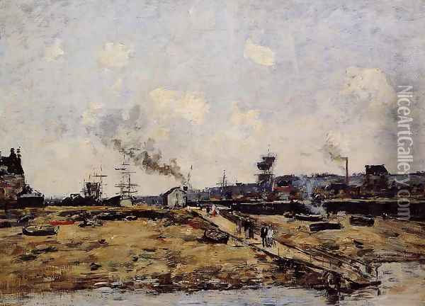 Trouville, the Ferry to Deauville I Oil Painting - Eugene Boudin