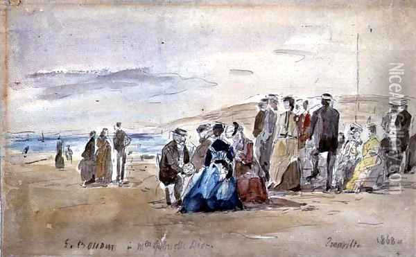 Trouville 1869 Oil Painting - Eugene Boudin