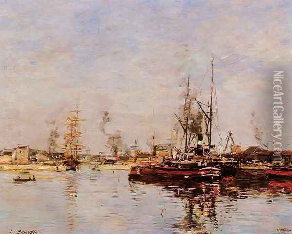 Entrance to the Port of Le Havre Oil Painting - Eugene Boudin