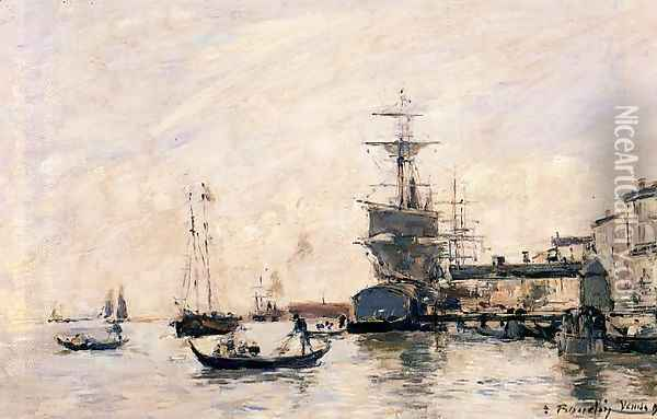 View of Venice Oil Painting - Eugene Boudin