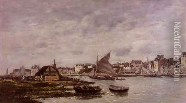 Trouville the Port 1869 Oil Painting - Eugene Boudin