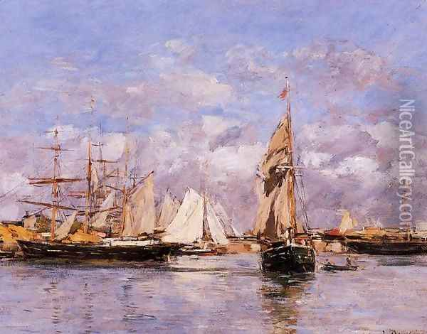 The Port of Le Havre at Sunset 1882 Oil Painting - Eugene Boudin