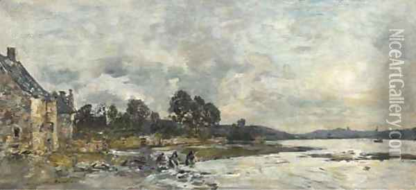 Hopital-Camfrout Le rivage Oil Painting - Eugene Boudin