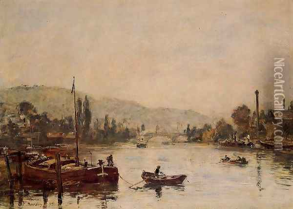 Rouen View from the Queen's Way 1895 Oil Painting - Eugene Boudin