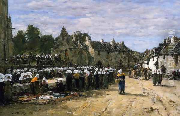 The Lock at Trouville 1894 Oil Painting - Eugene Boudin