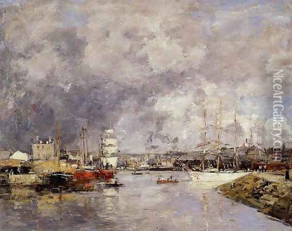 The Port of Deauville 1888-1895 Oil Painting - Eugene Boudin